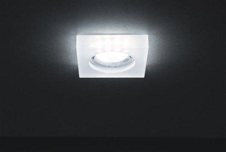 Bodové Stropní svítidlo ADEL LED D CHROME 6500K, GU10, hranatá, 3184, Struhm