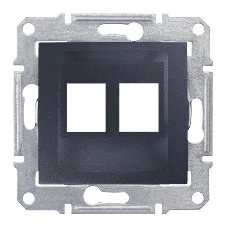Deska do 2xRJ45: AMP, MOLEX, grafitová Sedna SDN4400670 Schneider Electric