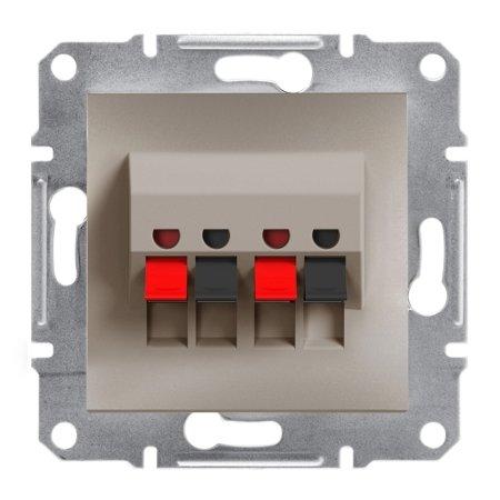 Dvojitá reproduktorová zásuvka bez rámečku, hnědá Schneider Electric Asfora EPH5700169