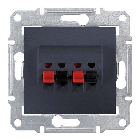 Dvojitá reproduktorová zásuvka, grafitová Sedna SDN5400170 Schneider Electric