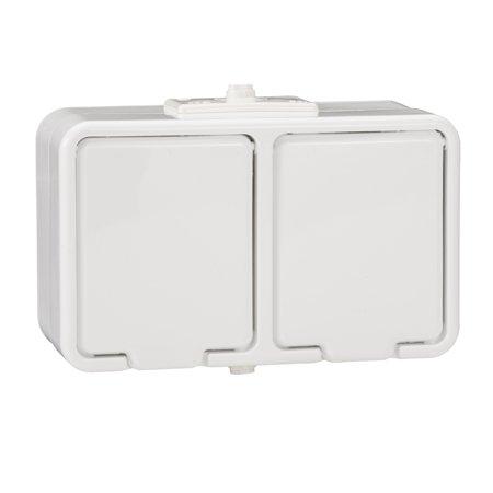 Dvojitá zásuvka 2P+PE IP44 bílá Cedar Schneider Electric NT230H01