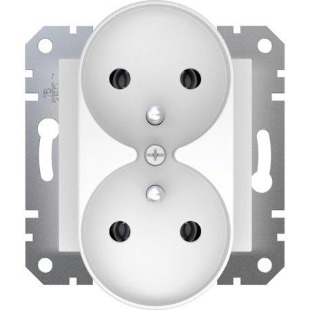 Dvojitá zásuvka 2x2P + E bílá Asfora Schneider Electric EPH9810221