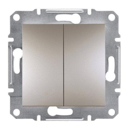 Dvojité tlačítko bez rámečku, hnědá Schneider Electric Asfora EPH1100169