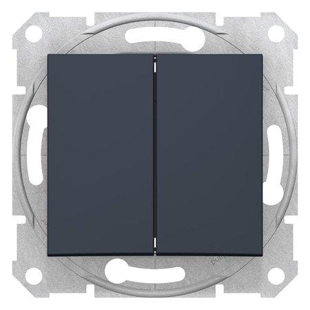 Dvojité tlačítko grafitová Sedna SDN1100170 Schneider Electric