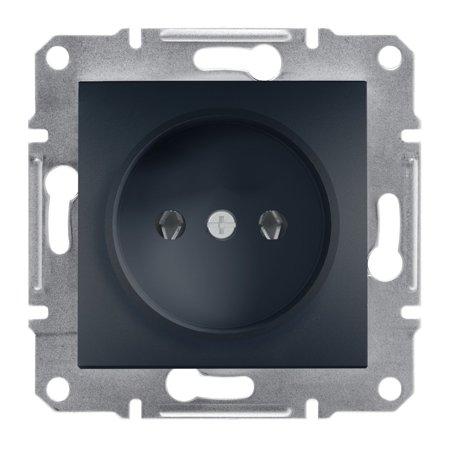 Jednoduchá zásuvka 2P bez rámečku, antracit Schneider Electric Asfora EPH3000171