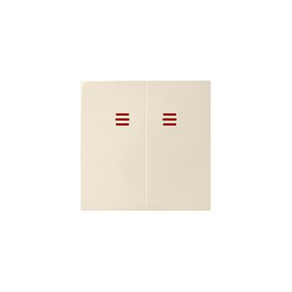 Klávesa vypínače dvojitého do podsvícení, béžová Kontakt Simon 82 82025-31