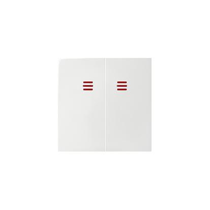 Klávesa vypínače dvojitého do podsvícení, bílý Kontakt Simon 82 82025-30
