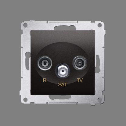 Kontakt Simon 54 Premium Antracit Anténní zásuvka R-TV-SAT průběžná (modul), DASP.01/48