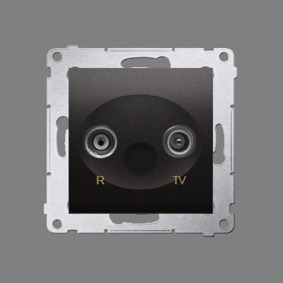 Kontakt Simon 54 Premium Antracit Anténní zásuvka R-TV zakončovací do zásuvek průchozích (modul), DAZ.01/48