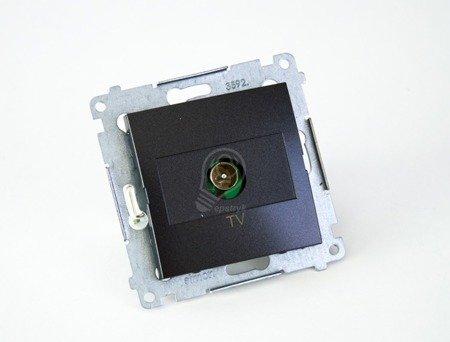 Kontakt Simon 54 Premium Antracit Anténní zásuvka TV jednonásobná (modul) DAK1.01/48