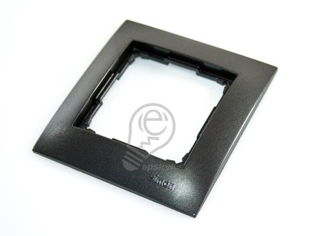 Kontakt Simon 54 Premium Antracit Rámeček 1-násobný univerzální IP20/IP44, DR1/48