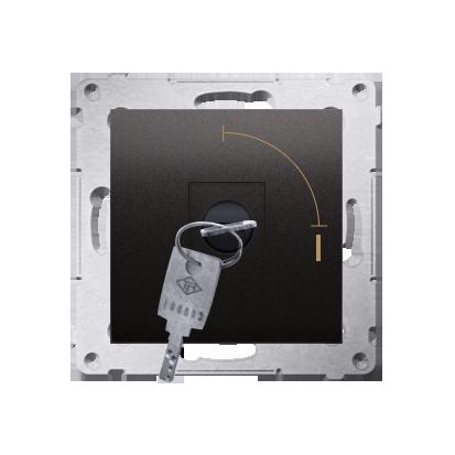 """Kontakt Simon 54 Premium Antracit Vypínač na dočasný klíč 2 polohový """"0-I"""" spínač N/O vyt. klíče pouze v pozici 0, DP1K.01/48"""