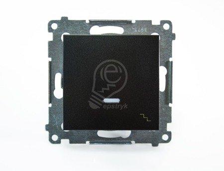 Kontakt Simon 54 Premium Antracit Vypínač schodišťový s podsvícením LED (modul) rychlospojka, DW6L.01/48