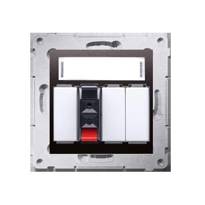 Kontakt Simon 54 Premium Antracit Zásuvka reproduktoru 1-násobná s popisovým pólem (modul) DGL31.01/48