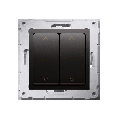 Kontakt Simon 54 Premium Antracit dvojnásobný vypínač žaluzii, rychlospojka, DZW2.01/48