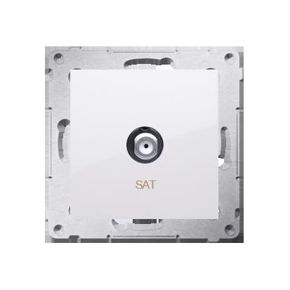 Kontakt Simon 54 Premium Bílý Anténní zásuvka SAT jednonásobná (modul) DASF1.01/11