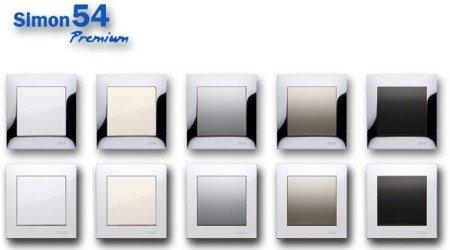 Kontakt Simon 54 Premium Bílý Kryt pro reproduktorové zásuvky DGL3.01/. , GL3Z/11