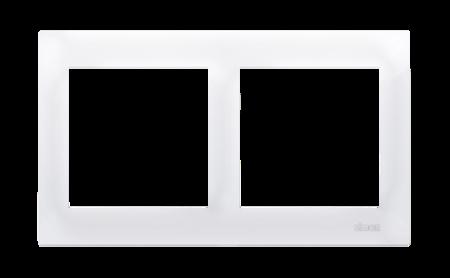 Kontakt Simon 54 Premium Bílý Rámeček 2-násobný univerzální IP20/IP44, DR2/11