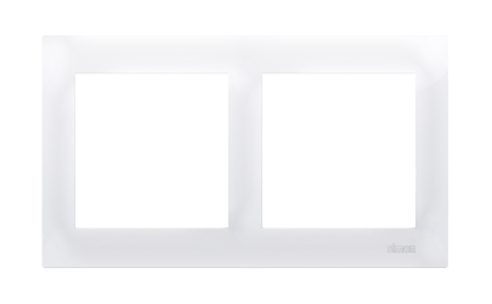 Kontakt Simon 54 Premium Bílý Rámeček 2-násobný univerzální pro sádrokartonové krabice IP20/IP44, DRK2/11
