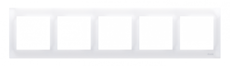 Kontakt Simon 54 Premium Bílý Rámeček 5-násobný univerzální pro sádrokartonové krabice IP20/IP44, DRK5/11