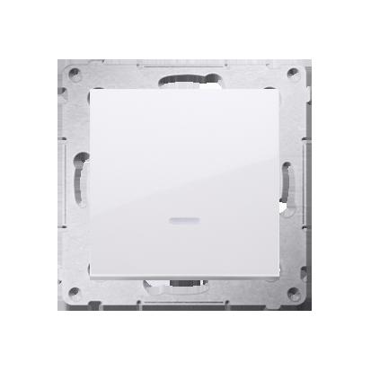 Kontakt Simon 54 Premium Bílý Tlačítko jednopólové zkratovací s podsvícením LED bez pikt. rychlospojka, DP1L.01/11