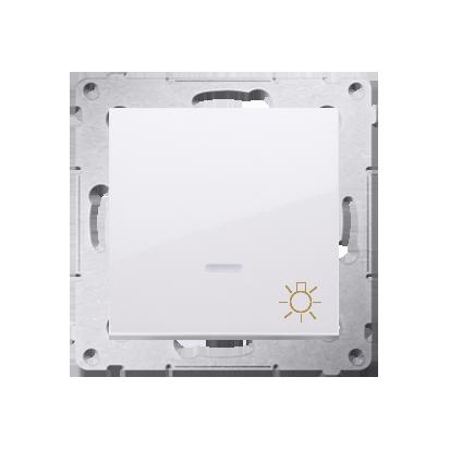 """Kontakt Simon 54 Premium Bílý Tlačítko """"světlo"""" s podsvícením LED rychlospojka, DS1L.01/11"""