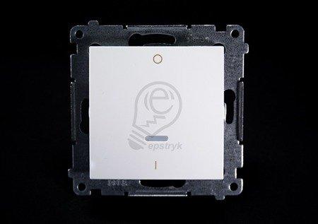 Kontakt Simon 54 Premium Bílý Vypínač dvoupólový s podsvícením LED rychlospojka, DW2L.01/11