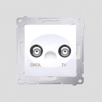 Kontakt Simon 54 Premium Bílý Zásuvka TV-DATA. Dva výstupy 'F' 5-1000 MHz, DAD1.01/11