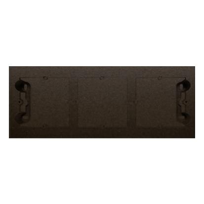 Kontakt Simon 54 Premium Hnědá, matný Krabice nástěnná ,krytka 3-násobná , DPN3/46