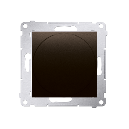 Kontakt Simon 54 Premium Hnědá, matný Stmívač přítlačný a otočný (modul) 20–500 W, DS9T.01/46