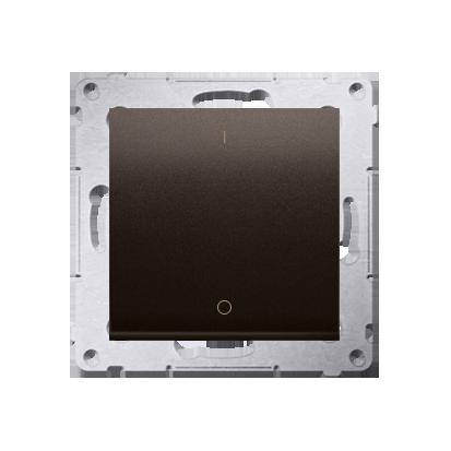Kontakt Simon 54 Premium Hnědá, matný Vypínač dvoupólový X šroubové koncovky, DW2A.01/46