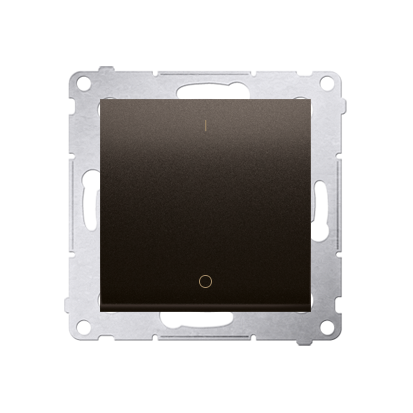 Kontakt Simon 54 Premium Hnědá, matný Vypínač dvoupólový rychlospojka, DW2.01/46