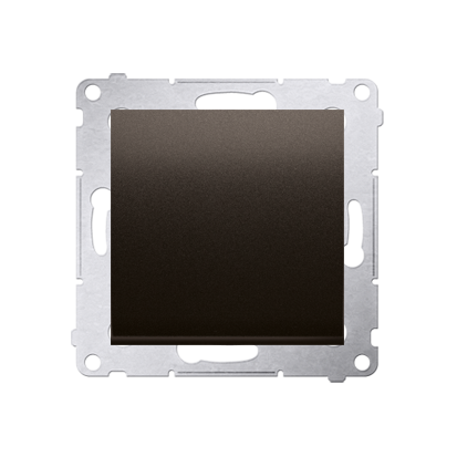 Kontakt Simon 54 Premium Hnědá, matný Vypínač jednonásobný (modul) X šroubové koncovky, DW1A.01/46