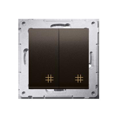 Kontakt Simon 54 Premium Hnědá, matný Vypínač křížový dvojnásobný 2 klávesy (modul) ~, DW7/2.01/46