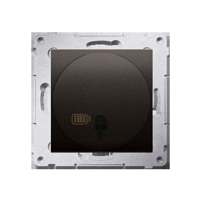 Kontakt Simon 54 Premium Hnědá, matný stmívač tlačítkový a dálkově ovládaný (modul) 20–500 W, DS13T.01/46
