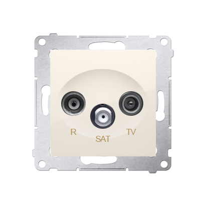 Kontakt Simon 54 Premium Krémová Anténní zásuvka R-TV-SAT průběžná (modul), DASP.01/41
