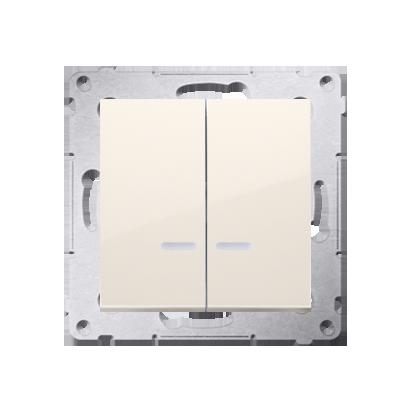 Kontakt Simon 54 Premium Krémová Přepínač sériový s podsvícením LED, pro verzi IP44 DW5ABL.01/41