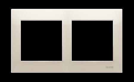 Kontakt Simon 54 Premium Krémová Rámeček 2-násobný univerzální pro sádrokartonové krabice IP20/IP44, DRK2/41