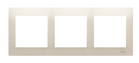 Kontakt Simon 54 Premium Krémová Rámeček 3-násobný univerzální IP20/IP44, DR3/41