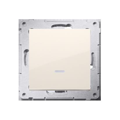 Kontakt Simon 54 Premium Krémová Vypínač jednonásobný s podsvícením LED (modul) X šroubové koncovky, DW1AL.01/41