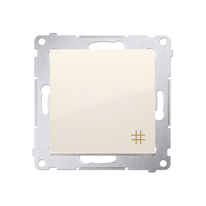 Kontakt Simon 54 Premium Krémová Vypínač křížový (modul) X šroubové koncovky, DW7A.01/41