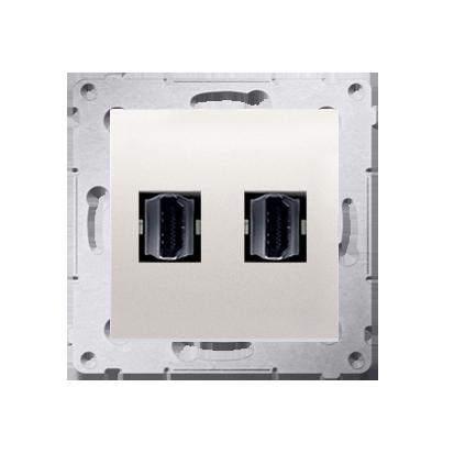 Kontakt Simon 54 Premium Krémová Zásuvka HDMI dvojitá (modul), DGHDMI2.01/41