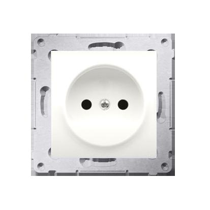 Kontakt Simon 54 Premium Krémová Zásuvka bez uzemnění s clonou šroubové koncovky, DG1Z.01/41