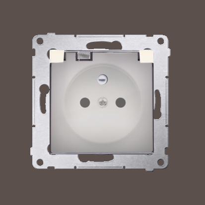 Kontakt Simon 54 Premium Krémová Zásuvka pro verzi IP44 transparentní klapka, DGZ1BZ.01/41A