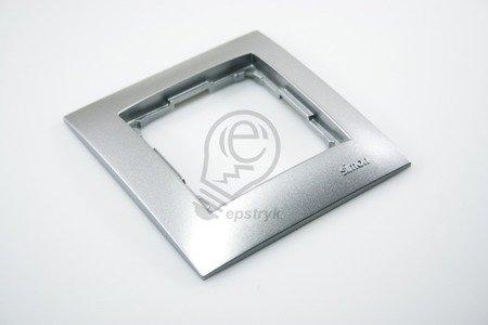 Kontakt Simon 54 Premium Stříbrná Rámeček 1-násobný univerzální IP20/IP44, DR1/43