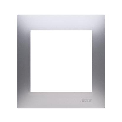 Kontakt Simon 54 Premium Stříbrná Rámeček 1-násobný univerzální pro sádrokartonové krabice IP20/IP44, DRK1/43