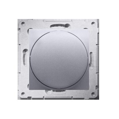 Kontakt Simon 54 Premium Stříbrná Stmívač přítlačný a otočný (modul) 20–500 W, DS9T.01/43