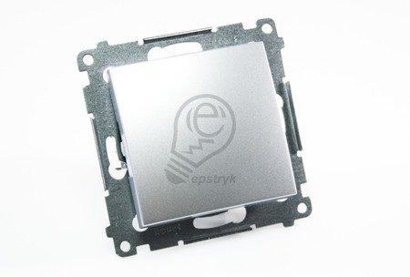 Kontakt Simon 54 Premium Stříbrná Vypínač jednonásobný (modul) rychlospojka, DW1.01/43