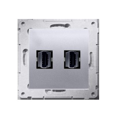 Kontakt Simon 54 Premium Stříbrná Zásuvka HDMI dvojitá (modul), DGHDMI2.01/43