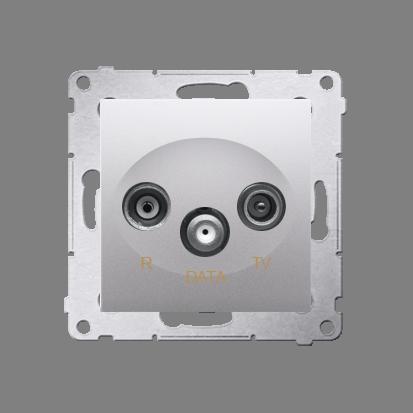 Kontakt Simon 54 Premium Stříbrná Zásuvka R-TV-DATA (modul), DAD.01/43